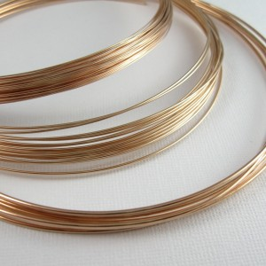 Bronze wire for jewelry